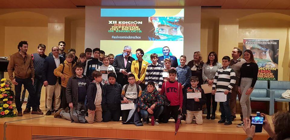 Los alumnos de 1º de ESO de Torrealba, galardonados con el primer premio del XII Concurso del Defensor del Menor de Andalucía