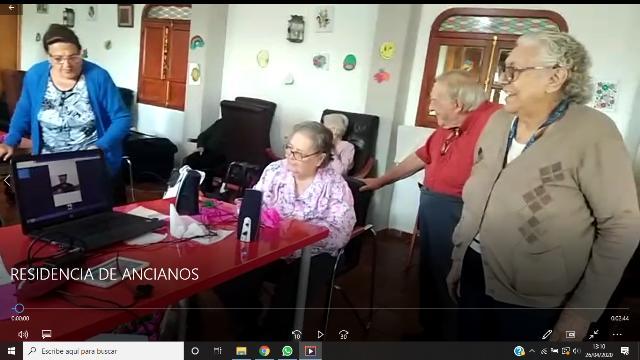 los alumnos de Torrealba no se olvidan de las personas mayores de la Residencia El Mirador